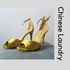 Chinese Laundry Green Heels